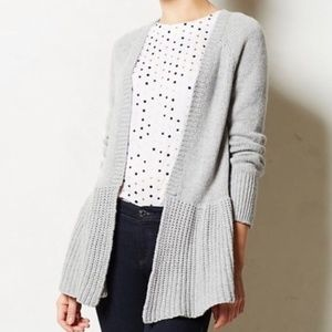 Anthropologie Knitted & Knotted Grey Cody Cardigan